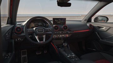 Interior dashboard view of the Audi SQ2.